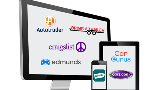 List your vehicle on popular car selling sites