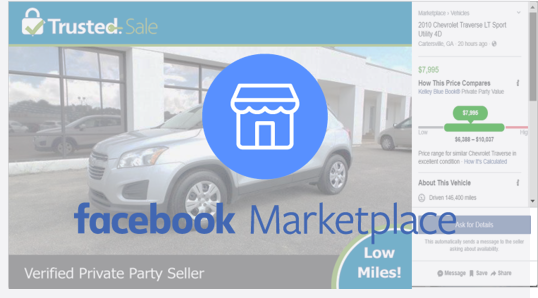 We list your vehicle on Facebook Marketplace